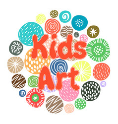 Kids art hobby club design vector