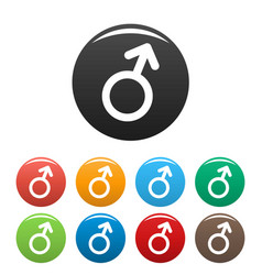 male gender symbol icons set simple vector image vector image