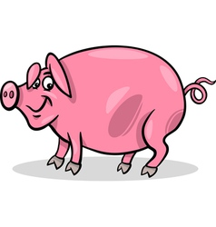 pig farm animal cartoon vector image