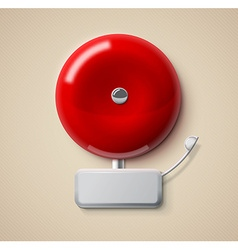 red alarm bell 3d realistic eps 10 vector image
