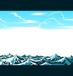 Retro ocean landscape vector image vector image