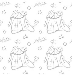 Seamless pattern of hand-drawn doodle vector
