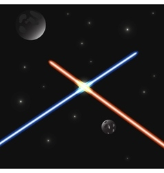 Set of color laser beams vector