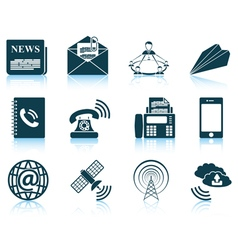 Set of communication icons vector image