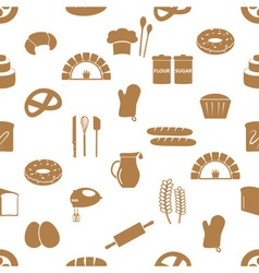 Simple bakery items icons seamless pattern eps10 vector