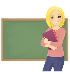 Student with books vector image vector image