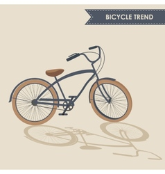 Trendy bike vector