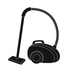 Vacuum cleaner icon in black style isolated on vector