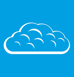 Winter cloud icon white vector