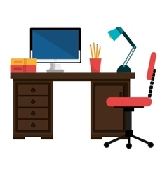 Office work place isolated icon design vector