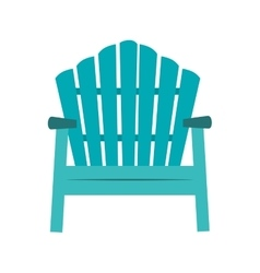 Chair sitting beach hawaiian vector