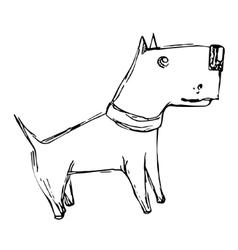 Cute cartoon doodle dog vector image