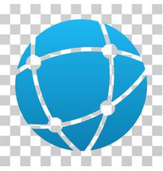 browser globe gradient icon vector image