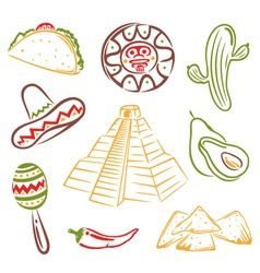 Mexico mexican food vector image