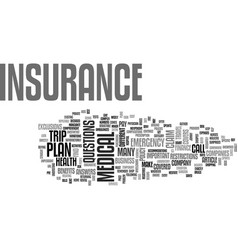 A buyer s guide to medical insurance text word vector