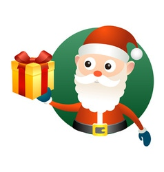 Santa claus with gift box vector