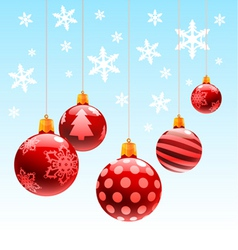 Christmas ornament ball vector
