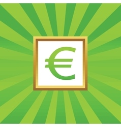 Euro picture icon vector