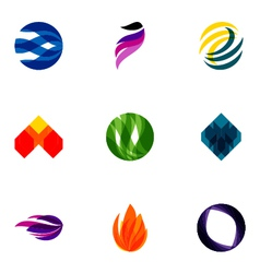 Logo design elements set 05 vector