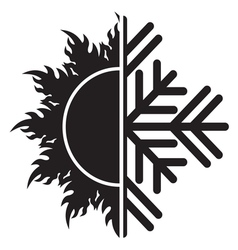 Summer winter air conditioning icon21 resize vector