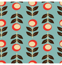 seamless floral background retro style vector image