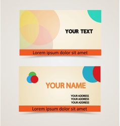 Retro vintage business card vector