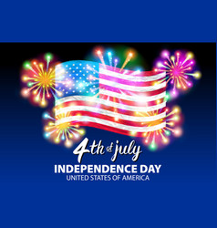 a celebrating independence day poster 4th vector image