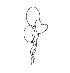 Ballons icon character 03 vector
