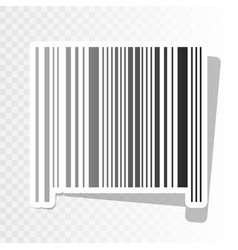 Bar code sign new year blackish icon on vector