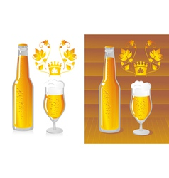 bottled beer vector image vector image