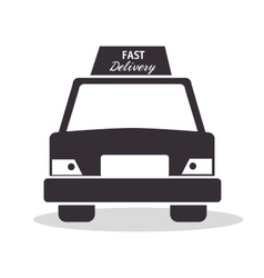 Car fast delivery service design icon vector