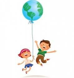 children balloon vector image