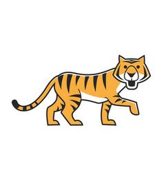 cute tiger walking vector image vector image