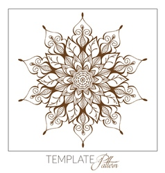 Decorative round ornament vintage pattern vector