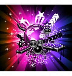 discotheque Dj flyers vector image vector image