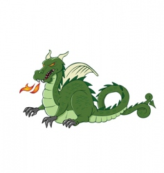 dragon medieval vector image