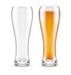 Empty transparent glasses and vector image vector image
