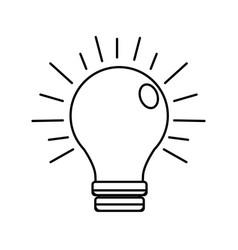 Figure power light bulb on vector