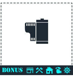 Film icon flat vector