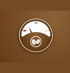 gauge with coffee cup background vector image