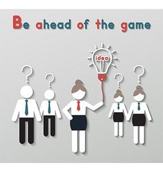 idea leadership business concept vector image