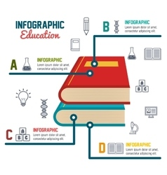 Infographic education books school graphic vector