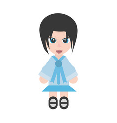 japanese girl student uniform vector image vector image
