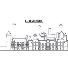luxembourg architecture line skyline vector image