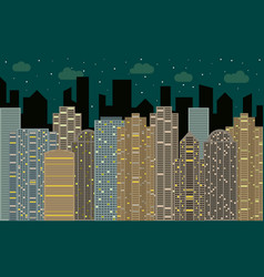 night urban landscape vector image vector image