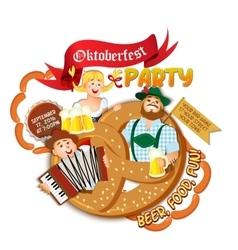 Oktoberfest party flyer vector image