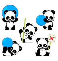 Panda Style vector image