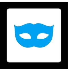Privacy Mask flat blue and white colors rounded vector image vector image