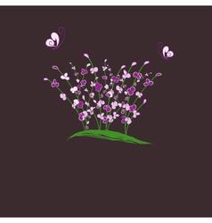 purple flower vector image vector image
