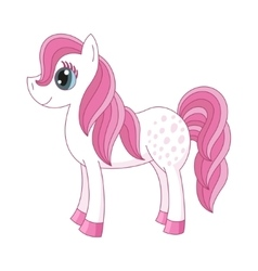 Romantic pony with a magnificent mane and tail vector